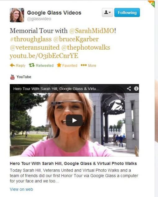 Twitter  glassvideo Memorial Tour with @SarahMidMO! ... - Google Chrome_2013-06-18_06-03-06