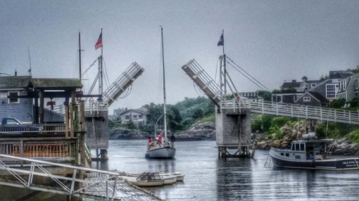 Foot Bridge Up - Perkins Cove