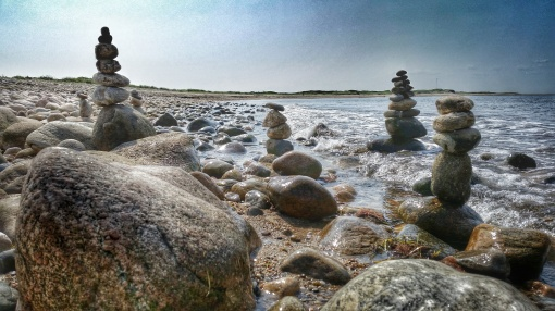 Rock Sculptures on Block Island