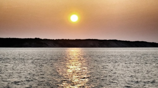 Sunset Over Block Island from the High Speed Ferry