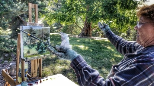 Arnold Arboretum Art with oil colors